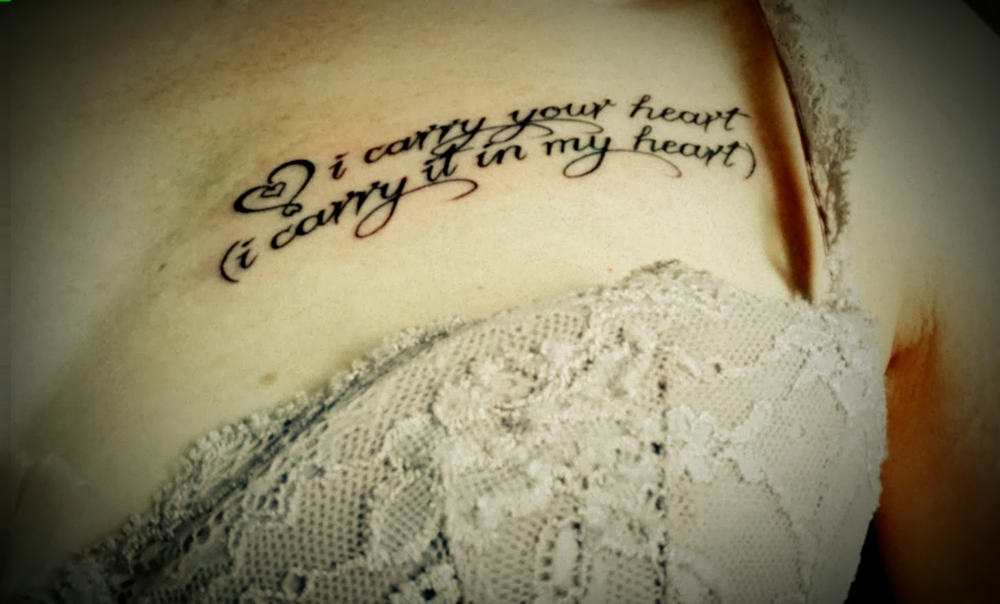 Tattoo - I carry your heaert (I carry it in my heart)