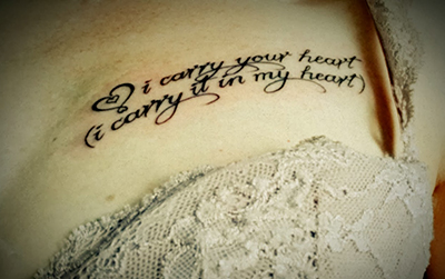 i carry your heart tattoo