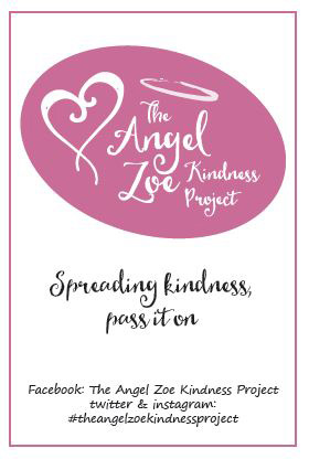 Angel Zoe spreading kindness label