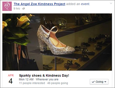 A day for being kind while wearing sparkly shoes.